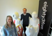Californian art duo lend talents to Lincoln Knights