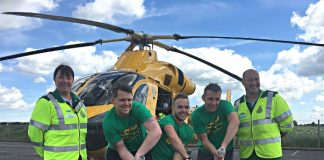 Cricketers tackle world record to raise funds for Air Ambulance